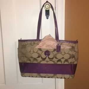 Lg Coach diaper bag with optional crossbody strap